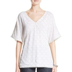St. John Collection Medallion Fil Coupe Top Blouse